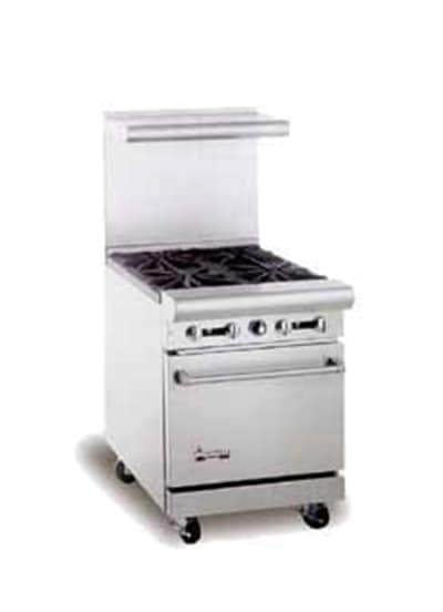 "American Range AR24G 24"" Gas Range with Griddle, NG"