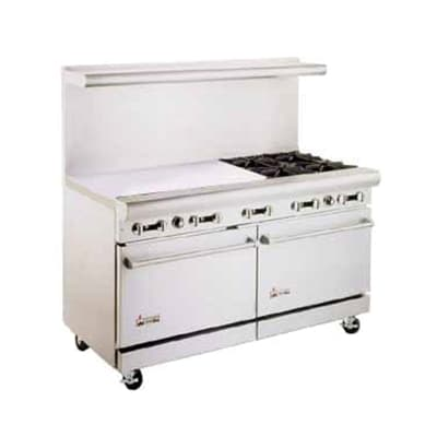 "American Range AR36G4B 60"" 4-Burner Gas Range with Griddle, NG"