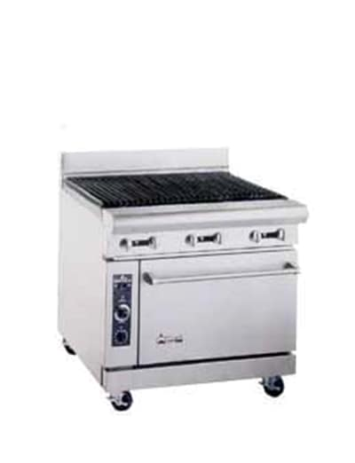 "American Range AR3RB 36"" Gas Range with Charbroiler, LP"
