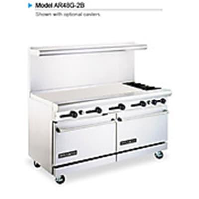 """American Range AR48G2B 60"""" 2 Burner Gas Range with Griddle, LP"""