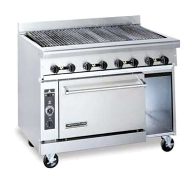 "American Range AR-4RB 48"" Gas Range with Charbroiler, NG"