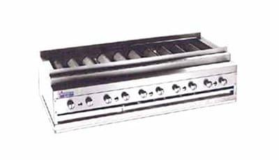 """American Range ARKB-84 84"""" Countertop Kebob Broiler w/ Heavy-Duty Radiants, 450,000 BTU, LP"""