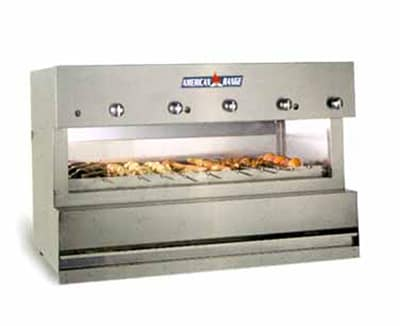 "American Range AROB-72 72"" Overfired Broiler w/ 6 Burners, Countertop, Stainless Exterior, 161,000 BTU, LP"
