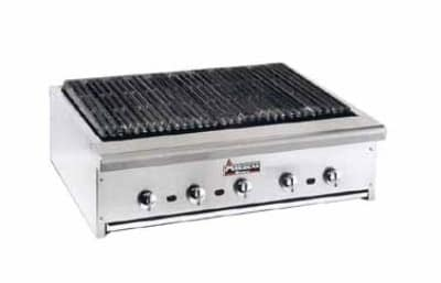 "American Range ARRB-60 60"" Countertop Charbroiler w/ Removable Radiants, Stainless Front & Trim, NG"