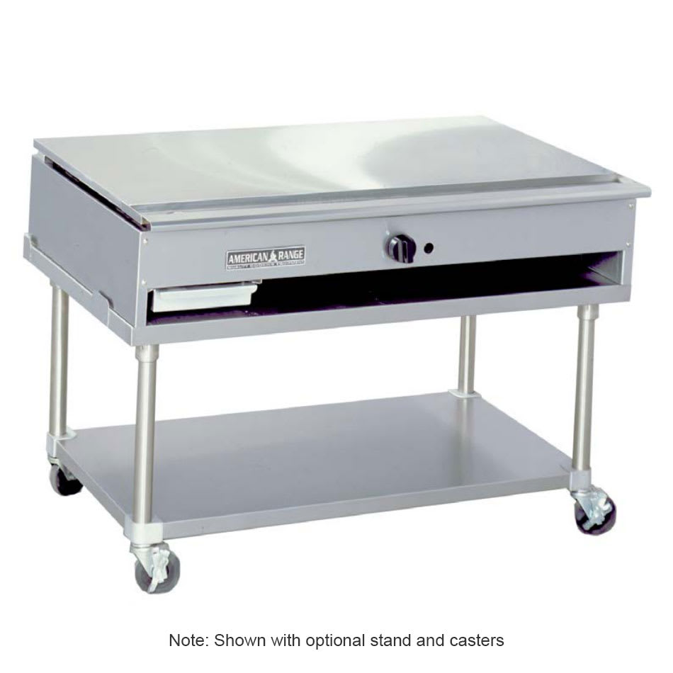 "American Range ARTY-48 48"" Teppan-Yaki Griddle w/ Polished Steel Plate, Manual, 30,000 BTU, LP"
