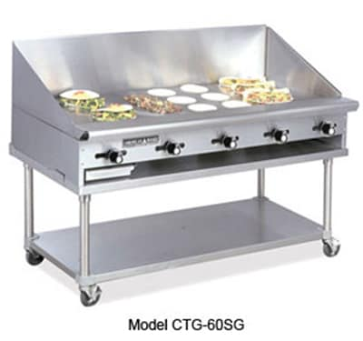 """American Range CTG-72 LP 72"""" Gas Griddle - Thermostatic, 1"""" Steel Plate, LP"""