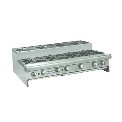 "American Range SUHP-48-8 48"" Gas Hotplate w/ (8) Burners & Manual Controls, NG"