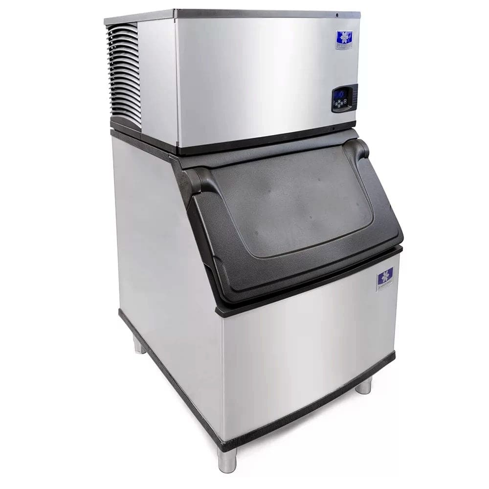 Manitowoc Ice ID-0303W-161/D-400 300 lb Full Cube Ice Maker w/ Bin - 365 lb Storage, Water Cooled, 115v