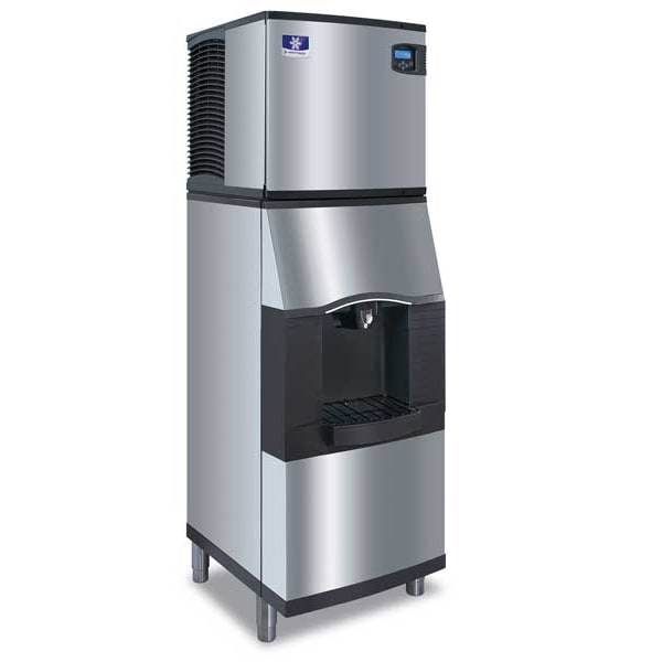 Manitowoc Ice IDT1200W/SFA291 1078 lb Full Cube Ice Maker w/ Ice & Water Dispenser - 180 lb Storage, Bucket Fill, 208/230v/1ph