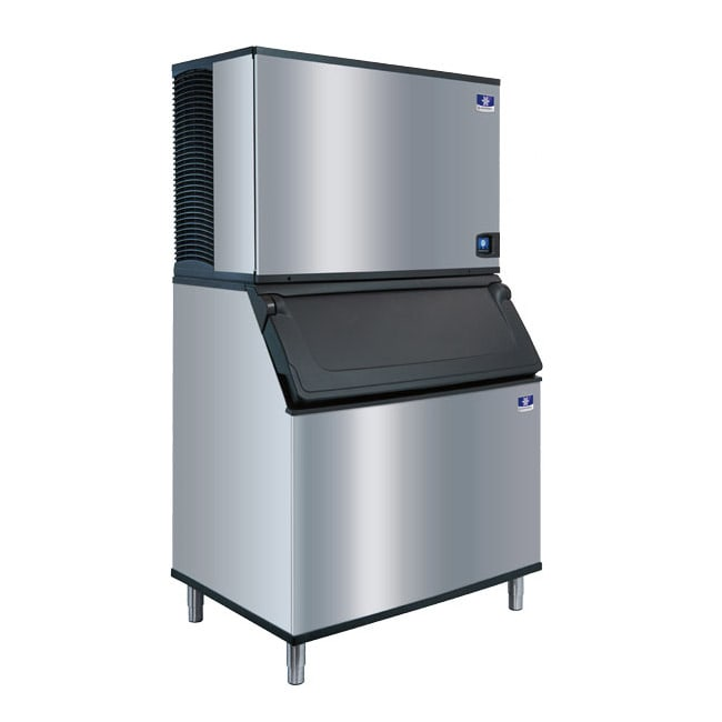 Manitowoc Ice IDT-1900A/D-970 1900 lb Full Cube Ice Maker w/ Bin - 882 lb Storage, Air Cooled, 208-230v/1ph