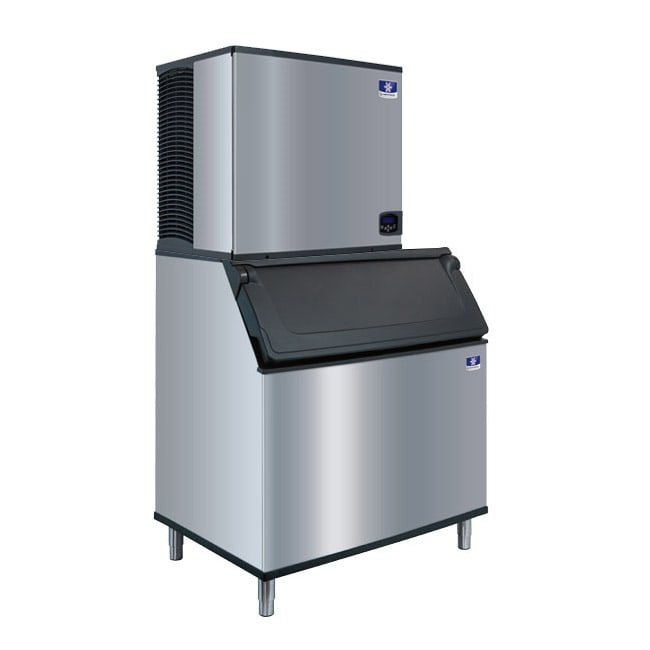 Manitowoc Ice IY-0906A/D-970/K-00470 901 lb Half Cube Ice Maker w/ Bin - 882 lb Storage, Air Cooled, 208-230v/1ph