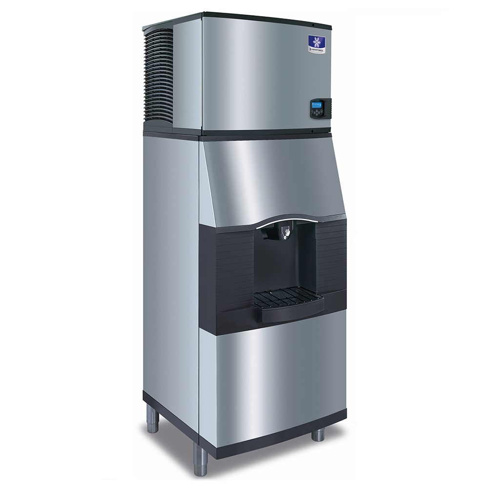 Manitowoc Ice IYT0420W/SFA191 490 lb Half Cube Ice Maker w/ Ice & Water Dispenser - 120 lb Storage, Bucket Fill, 115v