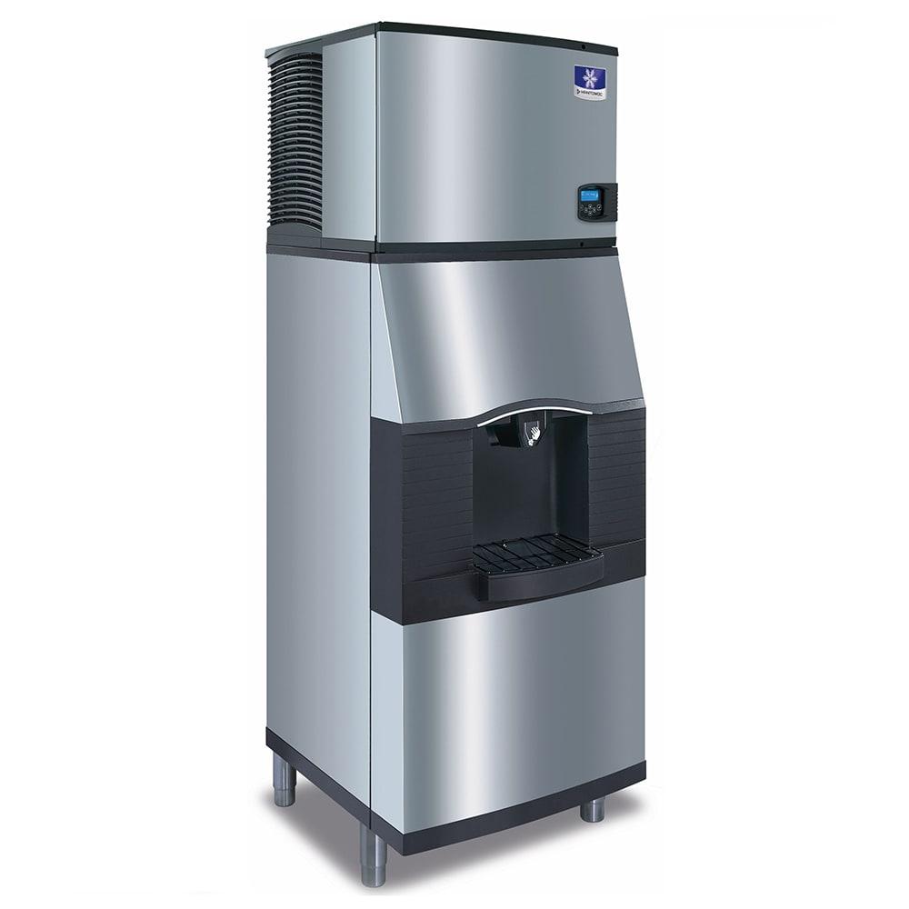 Manitowoc Ice IYT0420W/SPA160 490 lb Half Cube Ice Maker w/ Ice Dispenser - 120 lb Storage, Bucket Fill, 115v