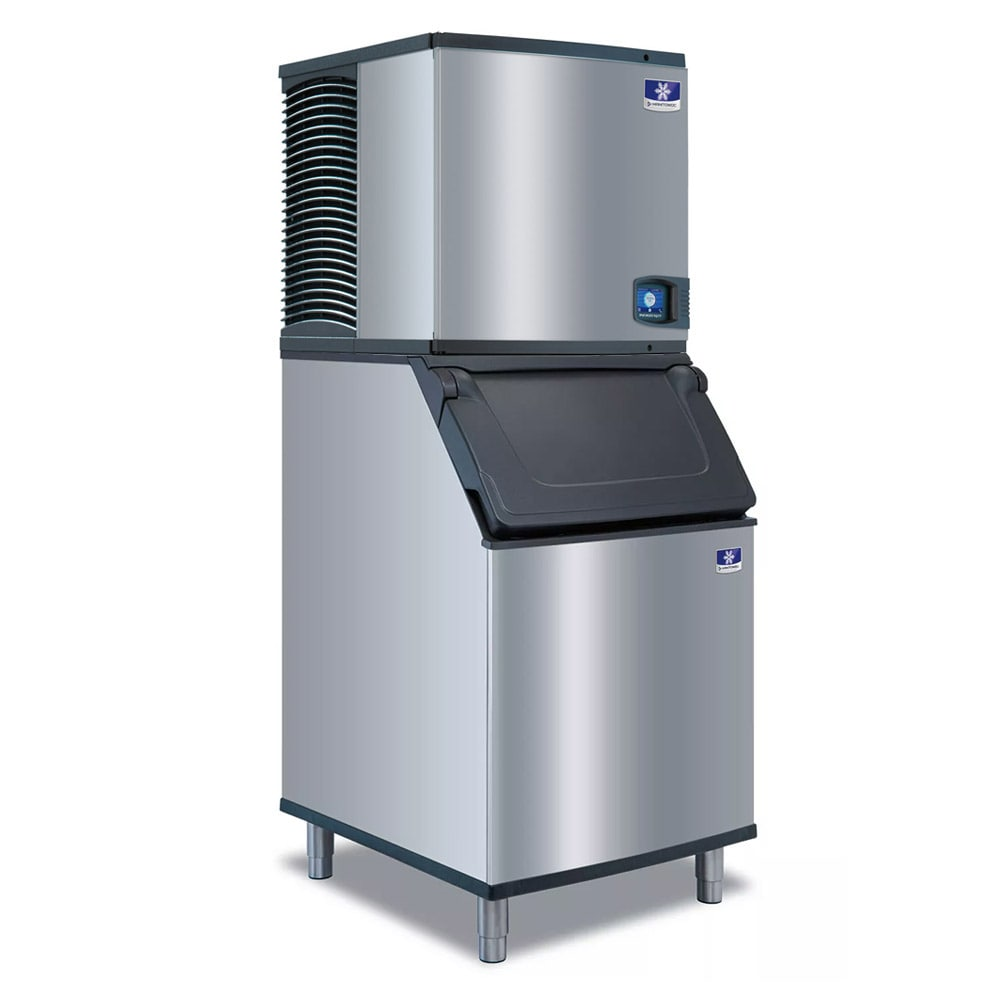 Manitowoc Ice IYT-0500A-161/D-570 550 lb Half Cube Ice Maker w/ Bin - 532 lb Storage, Air Cooled, 115v