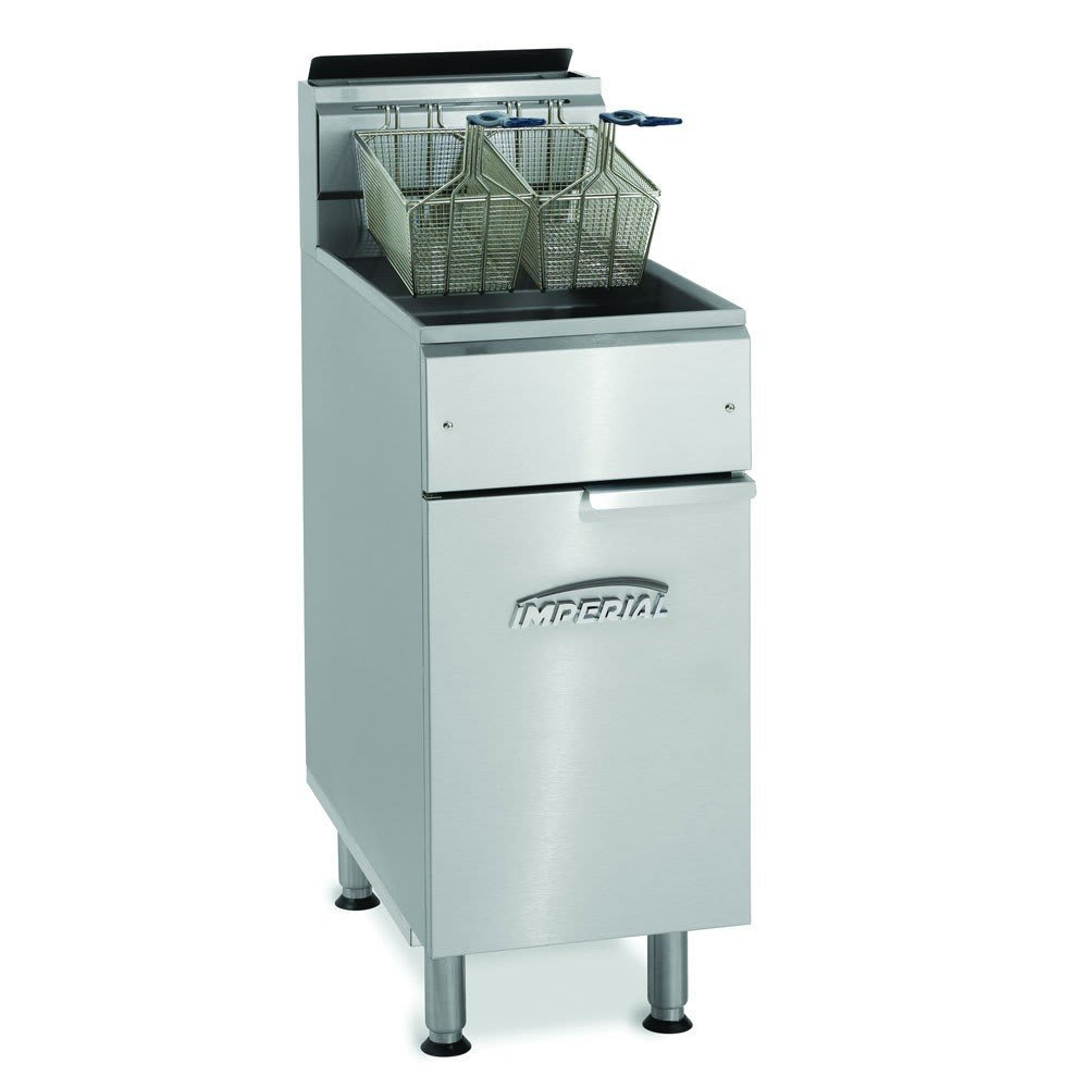 Imperial IFS-40-OP Gas Fryer - (1) 40-lb Vat, Floor Model, NG