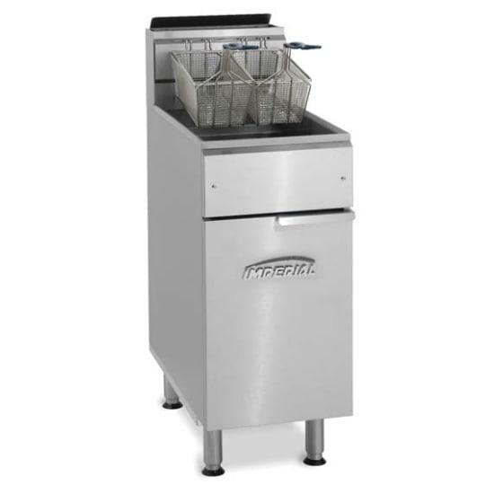 Imperial IFS-50 NG Gas Fryer - (1) 50 lb Vat, Floor Model, NG