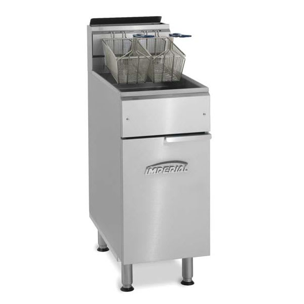 Imperial IFS-50-OP NG Gas Fryer - (1) 50 lb Vat, Floor Model, NG