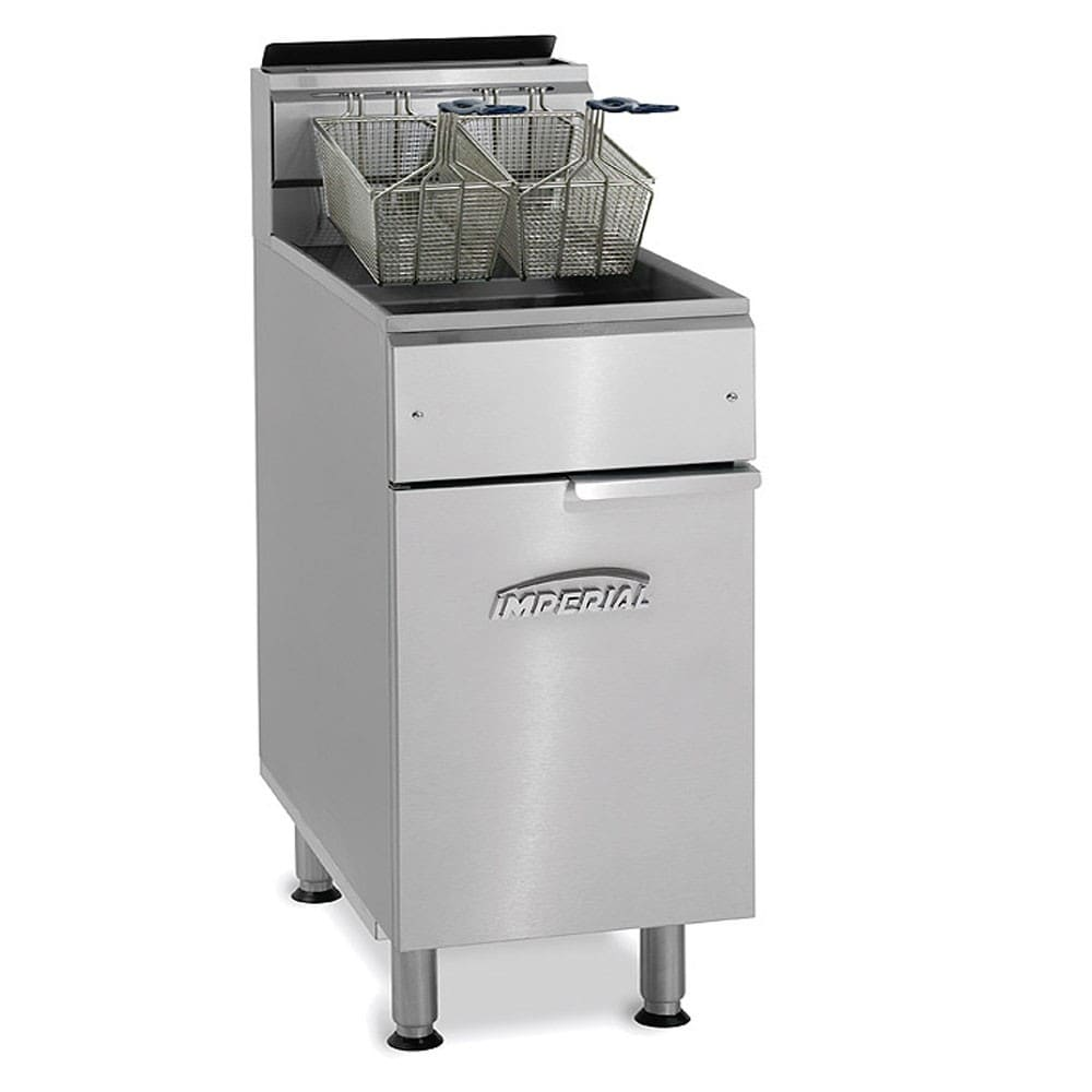 Imperial IFS-75-OP NG Gas Fryer - (1) 75-lb Vat, Floor Model, NG