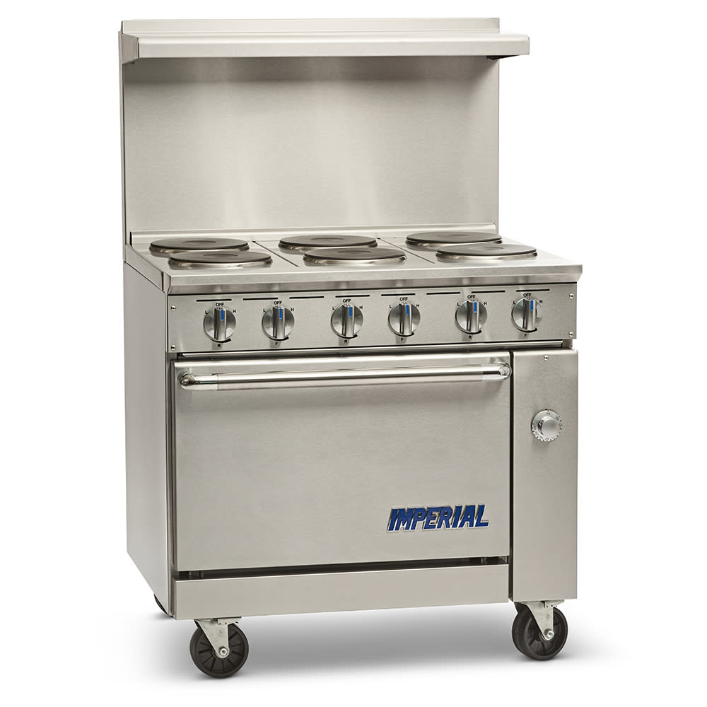 "Imperial IR-6-E 36"" 6-Sealed Element Electric Range, 208v/3ph"