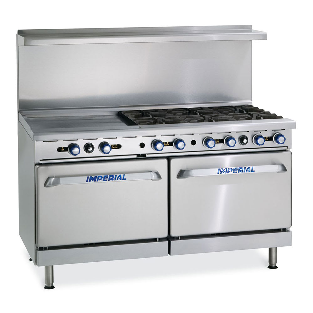 "Imperial IR-6-G24 60"" 6 Burner Gas Range w/ Griddle, LP"