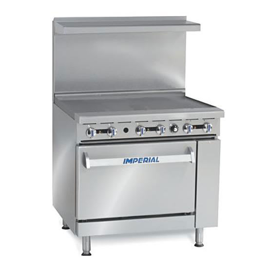 36 Electric Range >> Imperial Ir G36t E 36 Electric Range W Griddle 208v 1ph