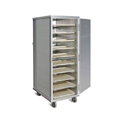 Piper Products AD-20 Enclosed Tray Delivery Cart, 20 Tray Capacity, 2 Trays Per Slide, Aluminum