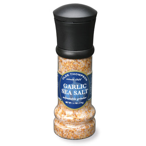 Olde Thompson 1008-08 9.7 oz Garlic Sea Salt Disposable Grinder