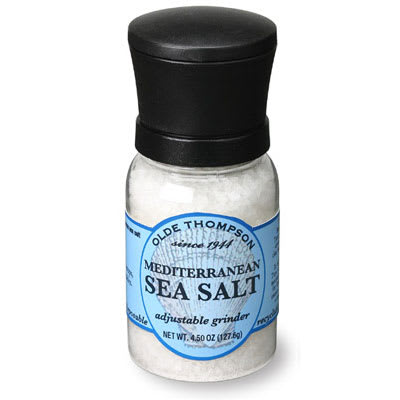 Olde Thompson 1040-06 4.5-oz Mediterranean Sea Salt Disposable Mini Grinder