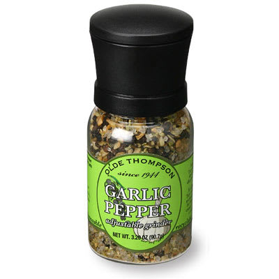Olde Thompson 1040-07 3.2-oz Garlic Pepper Disposable Mini Grinder