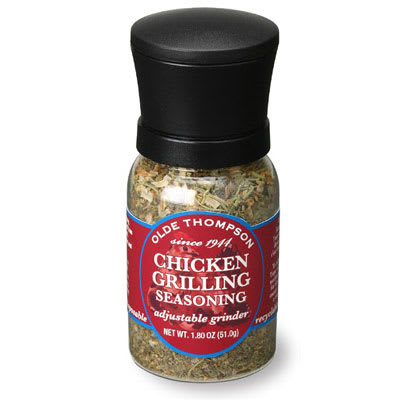Olde Thompson 1040-11 1.8 oz Chicken Grilling Seasoning Disposable Mini Grinder