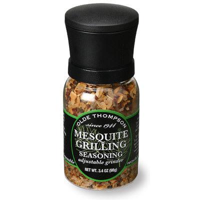 Olde Thompson 1040-14 3.4 oz Mesquite Grilling Seasoning Disposable Mini Grinder