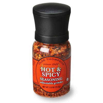 Olde Thompson 1040-17 2.5 oz Hot & Spicy Seasoning Disposable Mini Grinder