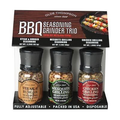 Olde Thompson 1040-90 BBQ Grinder Trio w/ 3.25-oz Steak, 3.4-oz Mesquite & 1.8-oz Chicken Seasonings