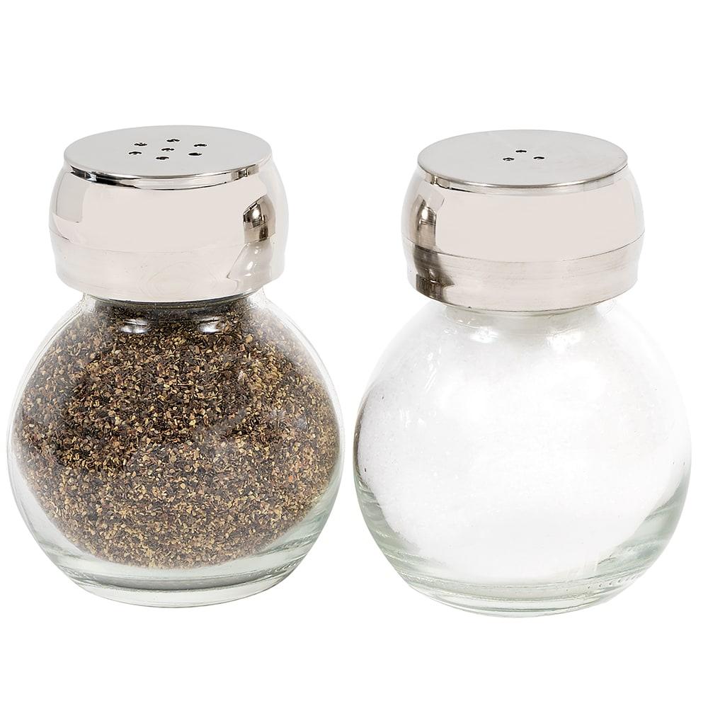 "Olde Thompson 22-353 3"" Salt & Pepper Shaker Set w/ Plastic Lid, Round"