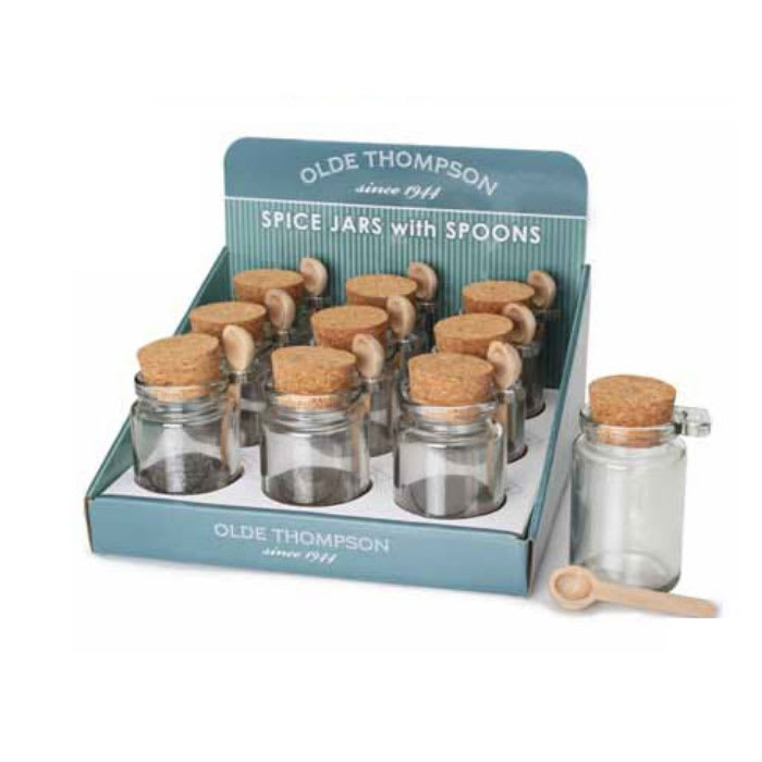 "Olde Thompson 22-643 4"" Individual Honey Spice Jar w/ Spoon"