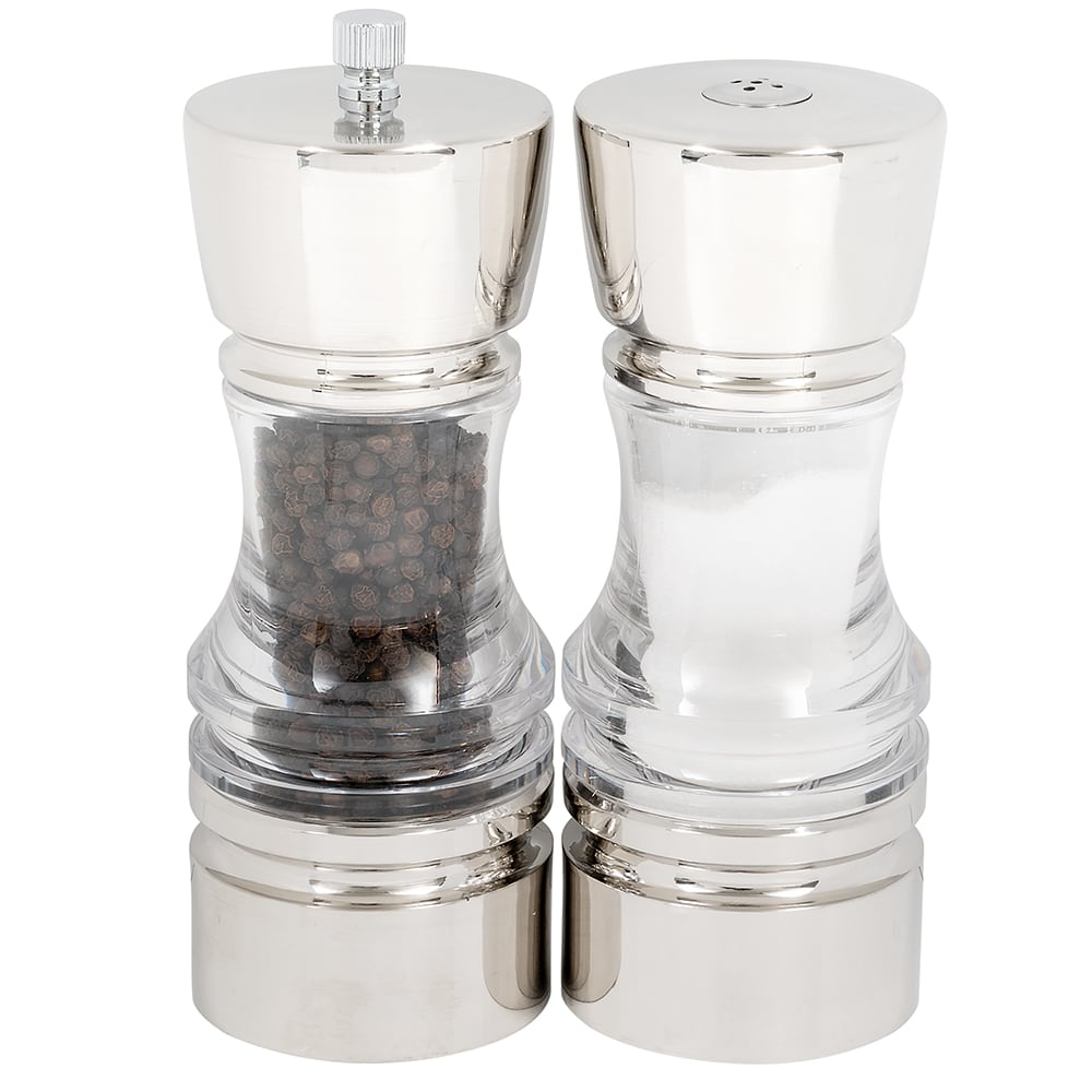"Olde Thompson 3509-00 6.5""H Salt Shaker & Pepper Mill - Clear"