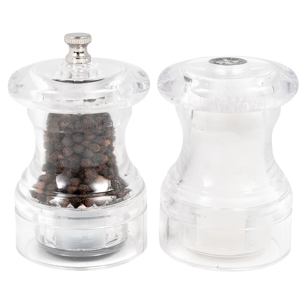 Olde Thompson 35423500 Peppermill/Salt Shaker Set, Comet, Clear Acrylic, 3-3/4 in