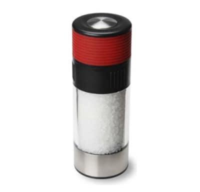 Olde Thompson 3824-00 8-in Grand Bavaria Salt Mill w/ Sea Salt, Glass/Stainless