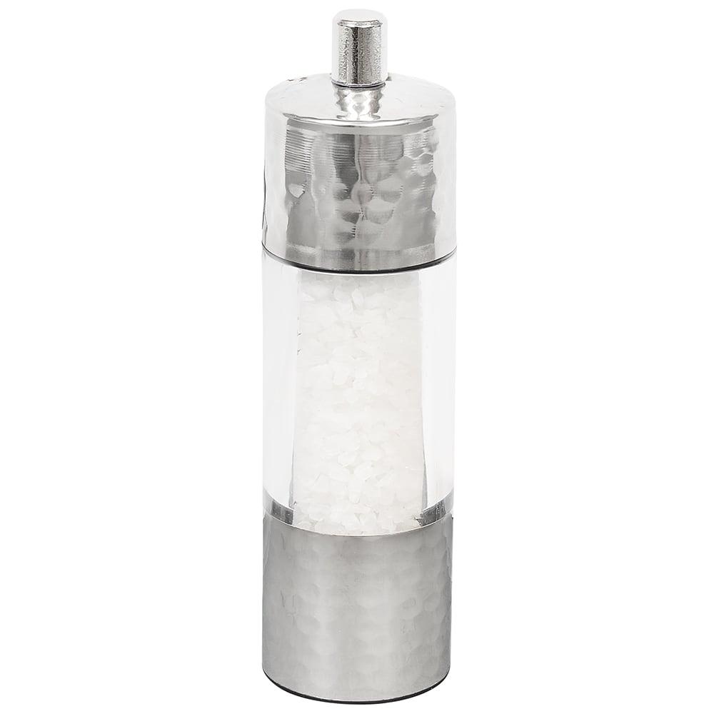 """Olde Thompson 3868-00 7""""H Salt Mill - Acrylic & Hammered Metal"""