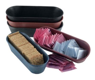 """HS Inc HS1010BB Microwavable Cracker Condiment Basket, 8.5 x 3 x 2"""", Polyethylene, Blueberry"""