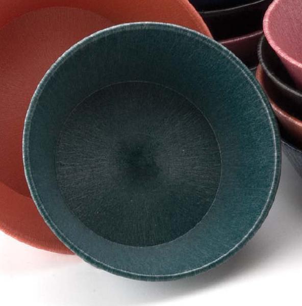 "HS Inc HS1012CC Small Round Serving Basket, 8 x 2.25"", Microwavable, Polyethylene, Charcoal"
