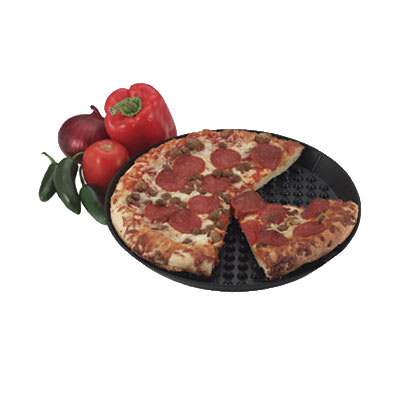 "HS Inc HS1035 Pizza Pleezer, 13""Diam x 1""Deep, Keeps Pizza High & Dry"