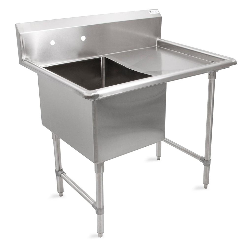 """John Boos 1B184-1D18R 40"""" 1 Compartment Sink w/ 18""""L x 18""""W Bowl, 14"""" Deep"""