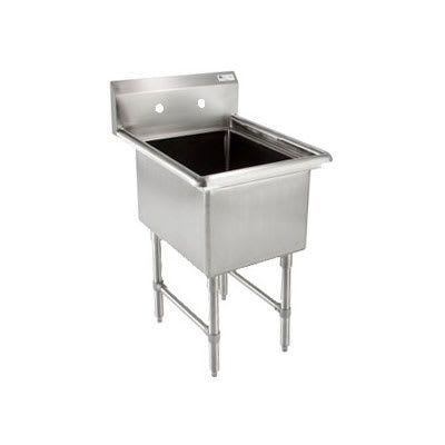 "John Boos 1B244 29"" 1-Compartment Sink w/ 24""L x 24""W Bowl, 14"" Deep"