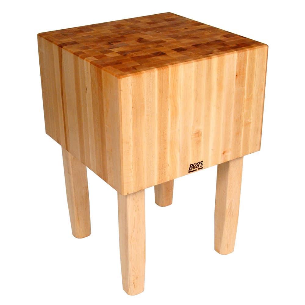 "John Boos AA01 16"" Maple Top Butcher Block Work Table - 24""L x 18""D"
