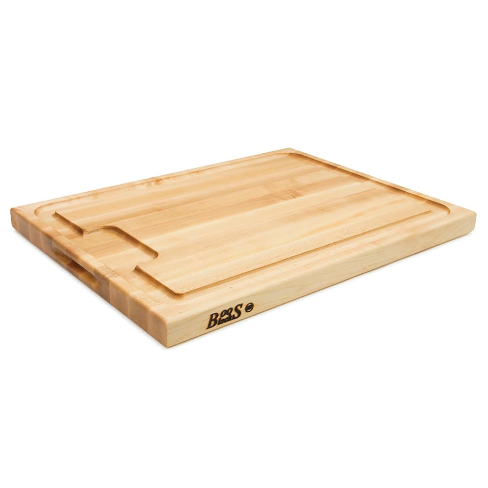 John Boos AUJUS Cutting Board, w/ Wider Sloped Juice Groove, Side Grip Handles,24x18x1.5""