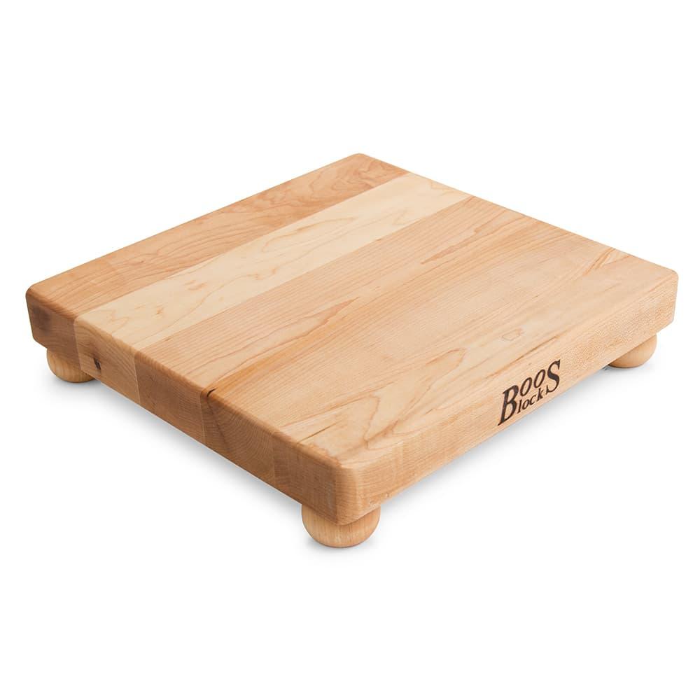 "John Boos B12S 12"" Square Cutting Board w/ Wooden Legs, Hard Rock Maple"