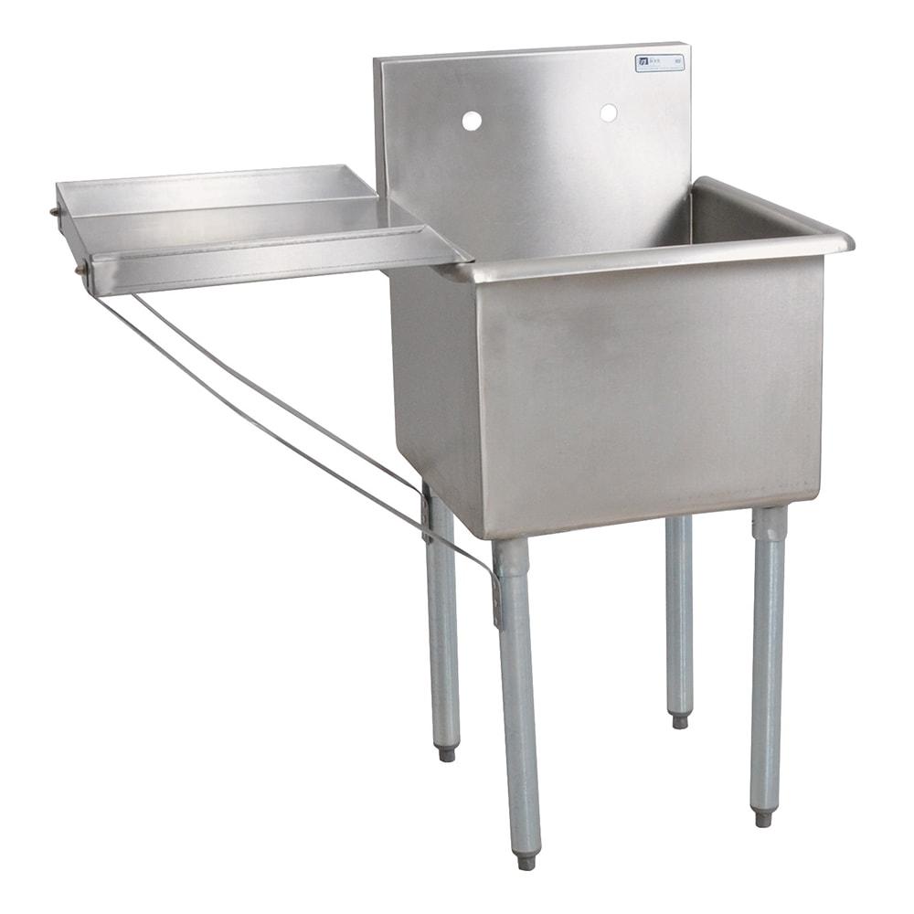 """John Boos B1S8-1821-14 21"""" 1 Compartment Sink w/ 18""""L x 21""""W Bowl, 14"""" Deep"""