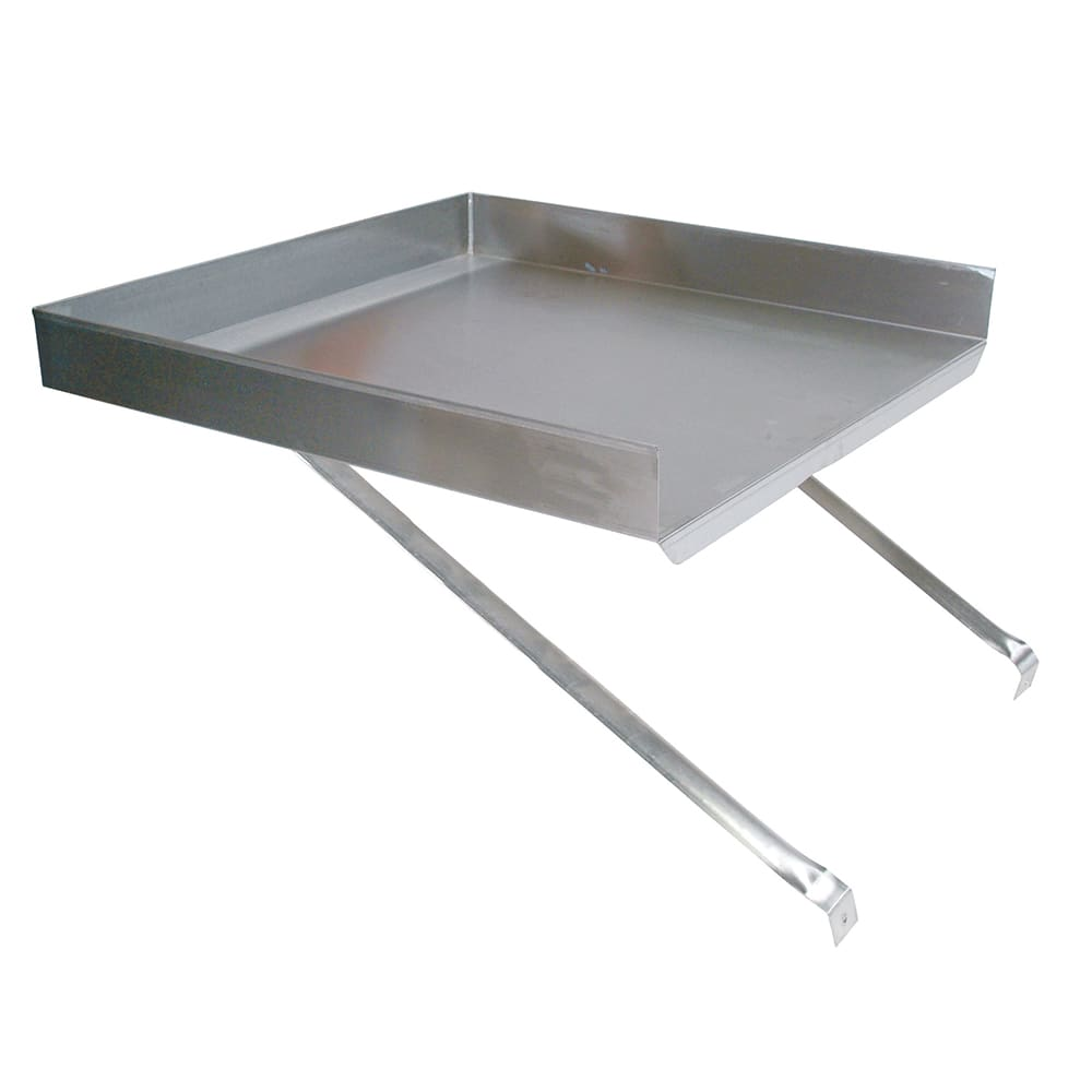 "John Boos BDDS8-18 Detachable Drain Board for 18 x 18"" Budget Sink, Stainless"