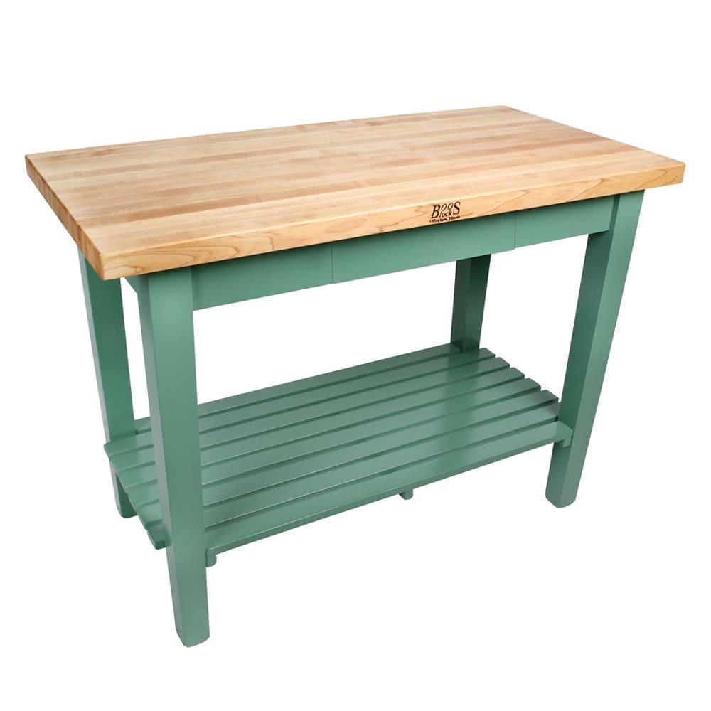 John Boos C3624-S-N Country Work Table, Hard Rock Maple, 36 x 24 in, 1 Shelf, Choose Color Base